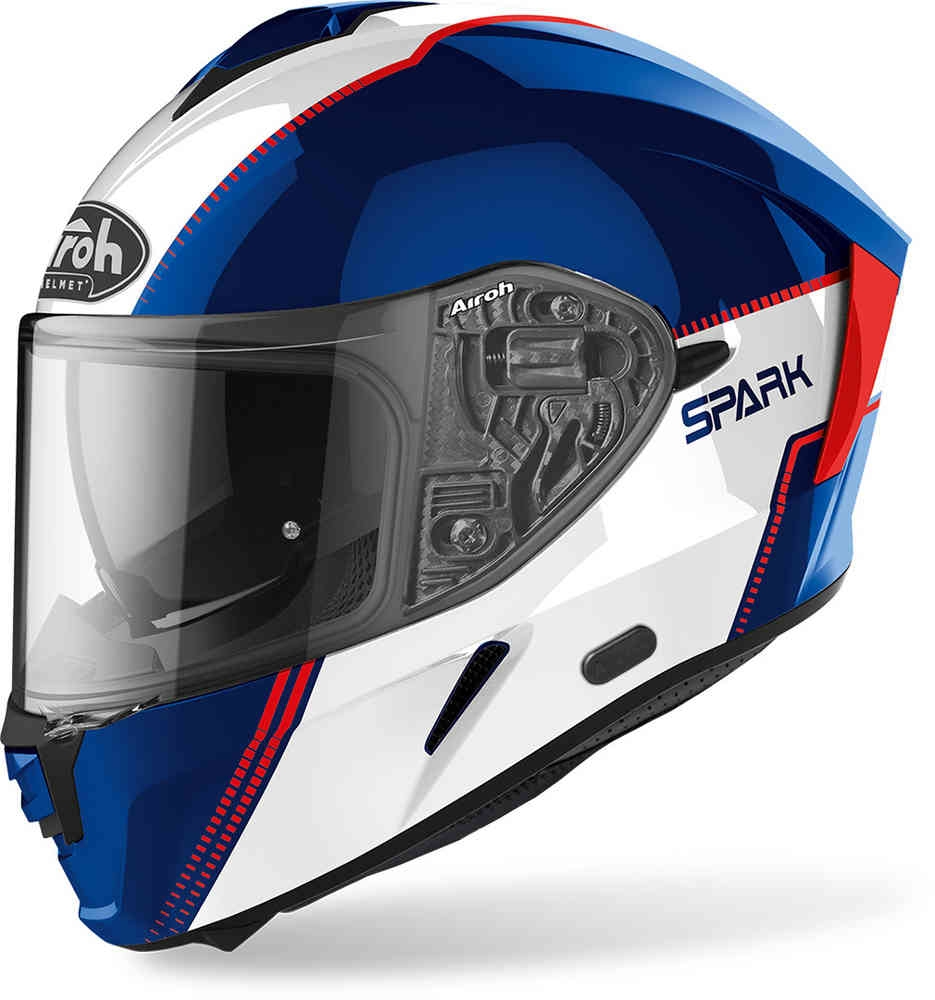 Casco integrale Airoh SPARK FLOW Blue Red Gloss 1