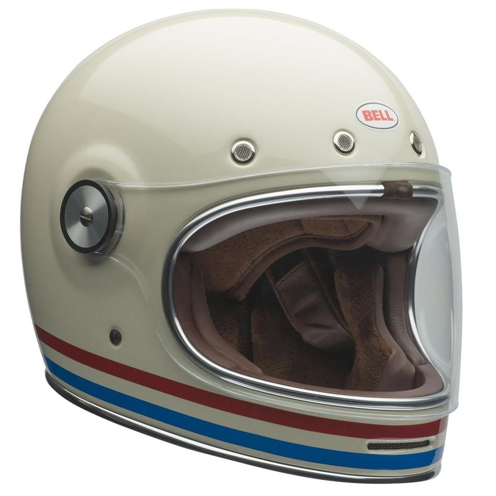 Casco integrale Bell BULLIT DLX Stripes Pearl White 2