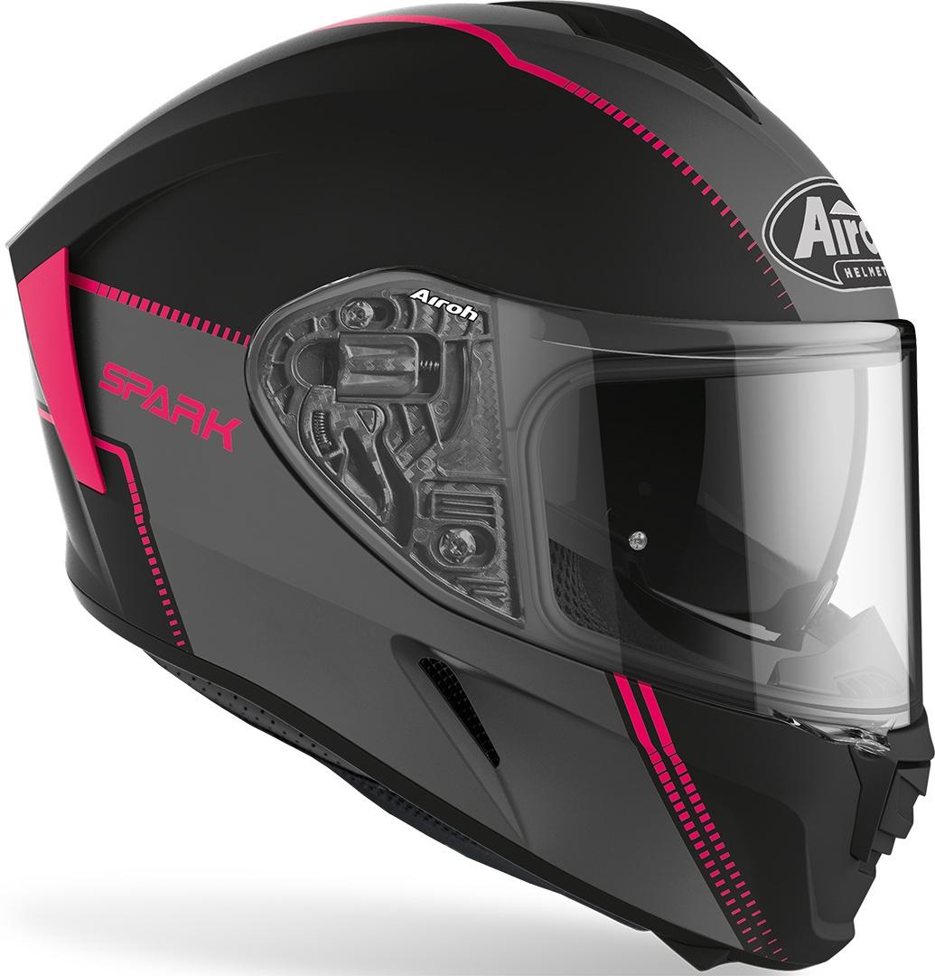 Casco integrale donna Airoh SPARK FLOW Pink Matt 2