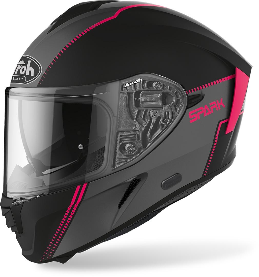 Casco integrale donna Airoh SPARK FLOW Pink Matt 1