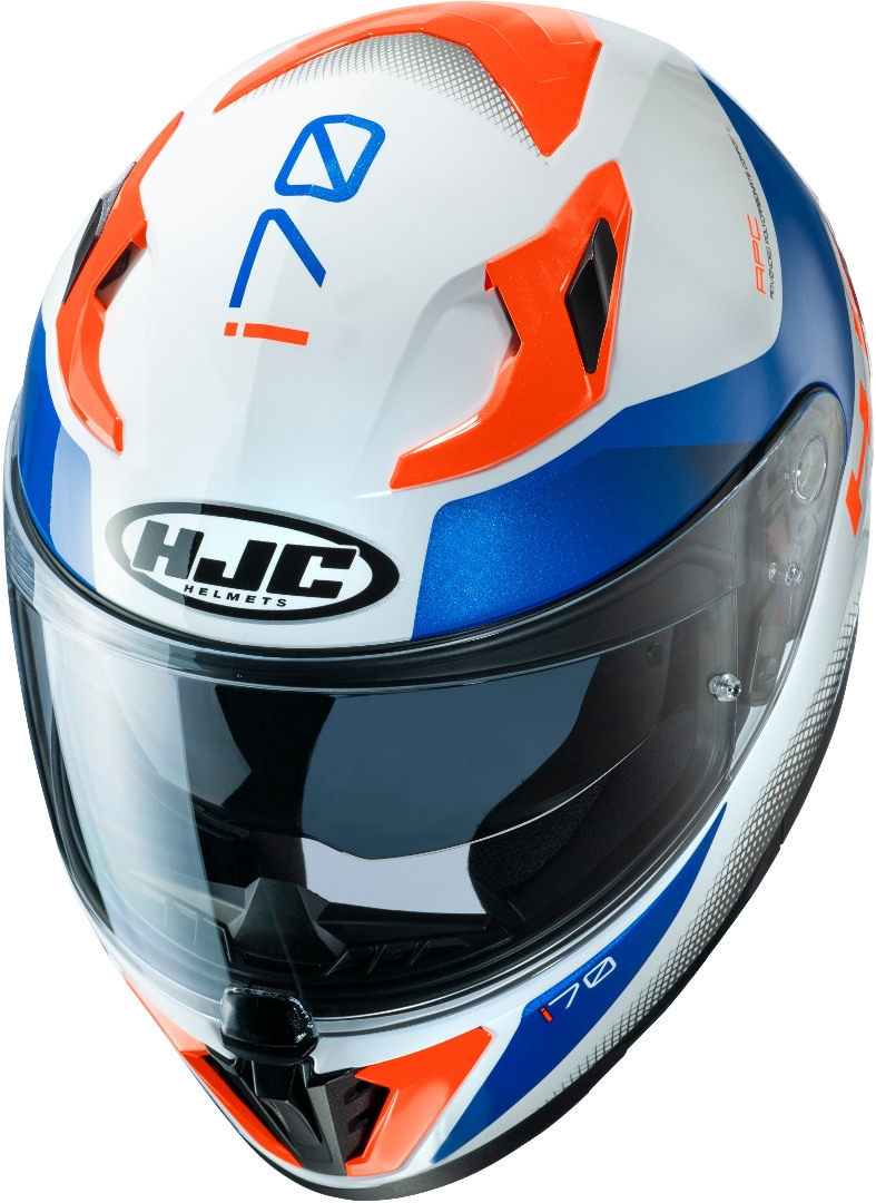 Casco integrale HJC i70 TAS MC26H Bianco Blu Rosso 3