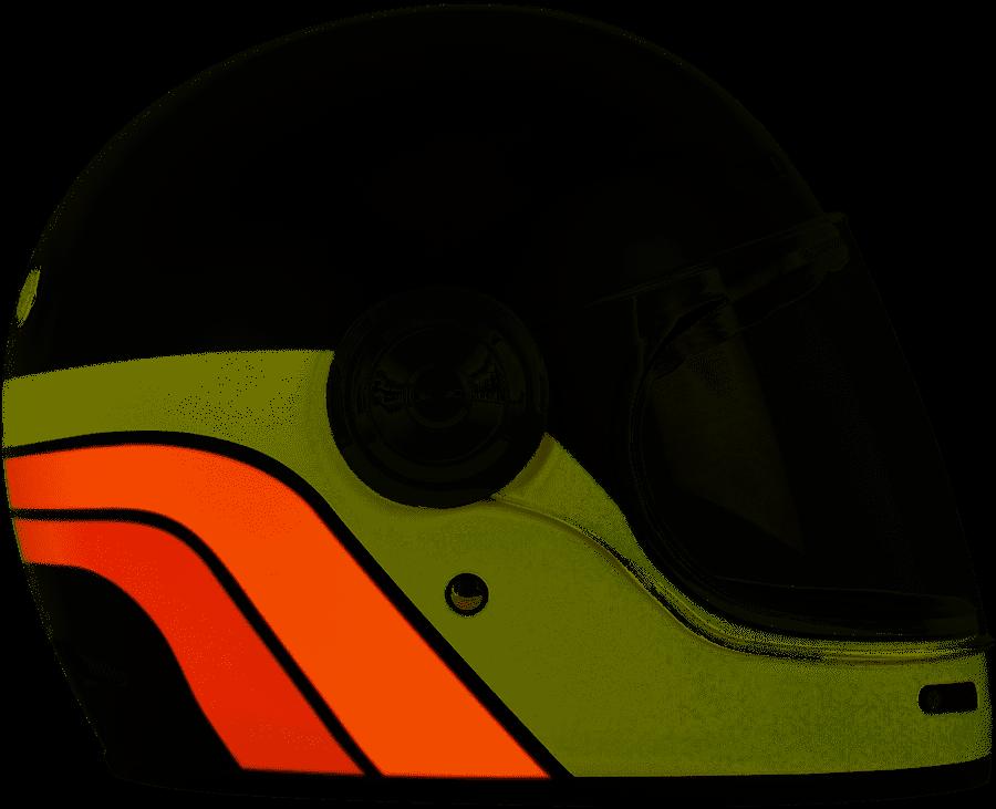 Casco VINTAGE integrale ORIGINE Vega Classic Black Orange 3