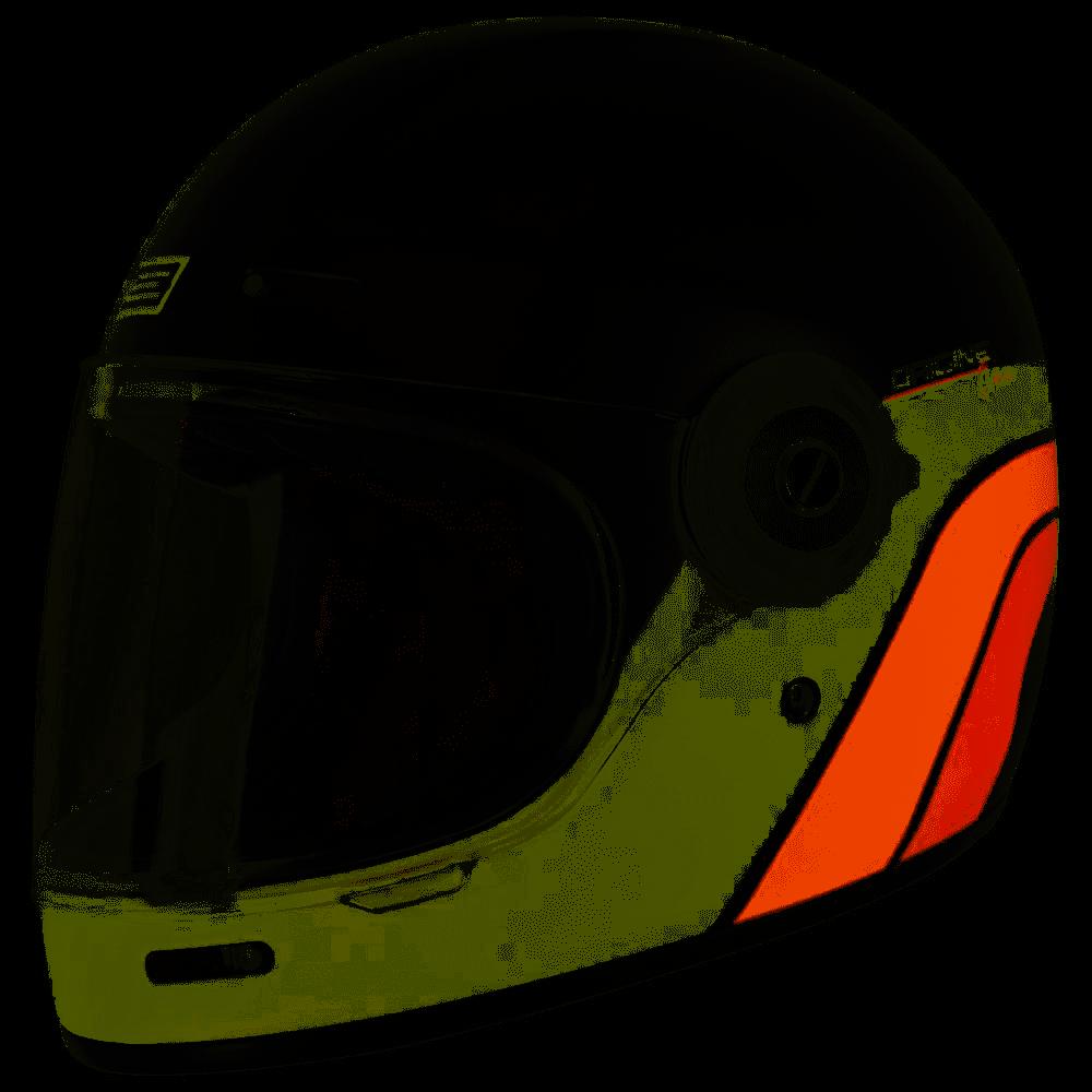 Casco VINTAGE integrale ORIGINE Vega Classic Black Orange 1