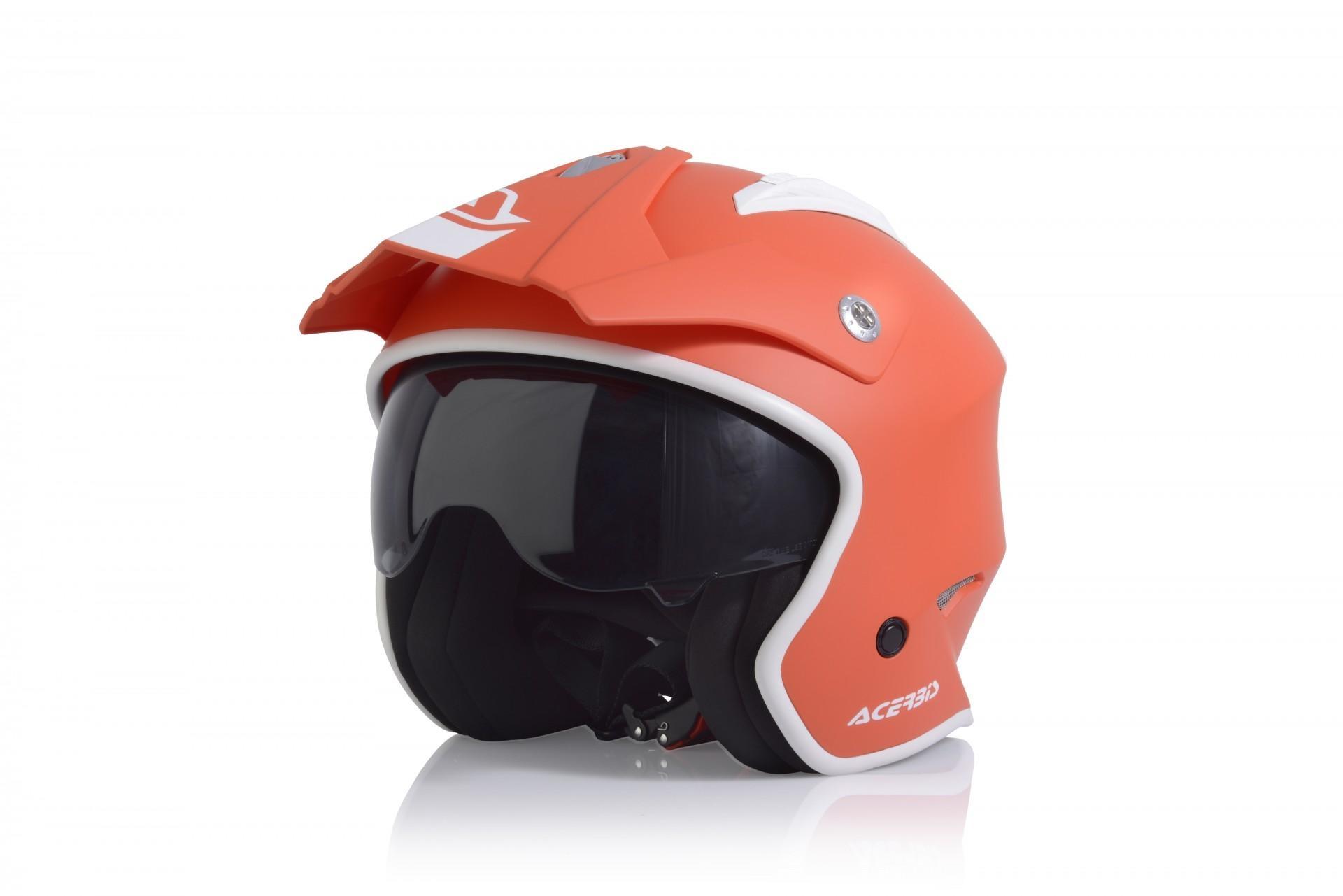 Casco Jet Acerbis JET ARIA red tangerine 3