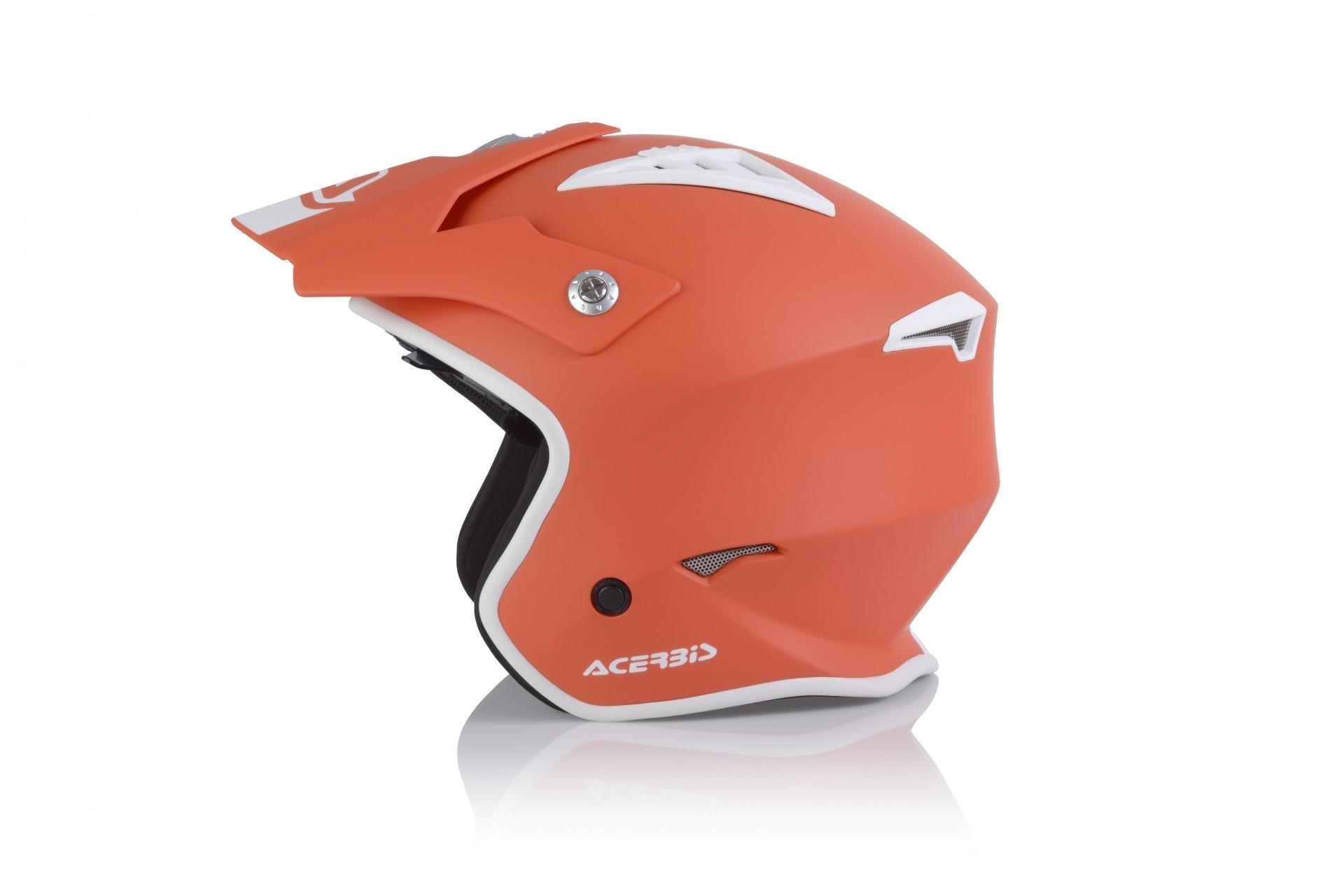 Casco Jet Acerbis JET ARIA red tangerine 1