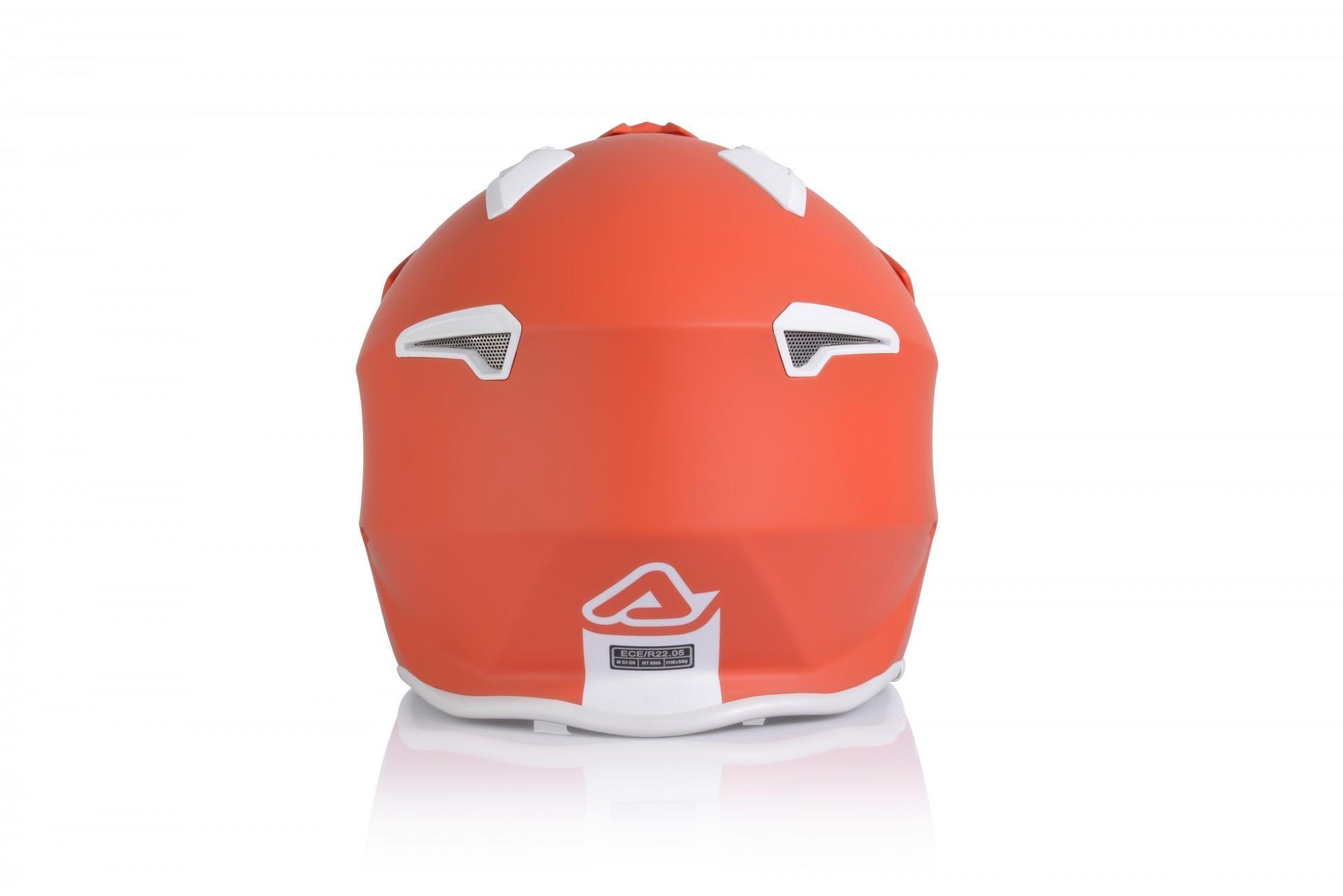 Casco Jet Acerbis JET ARIA red tangerine 2
