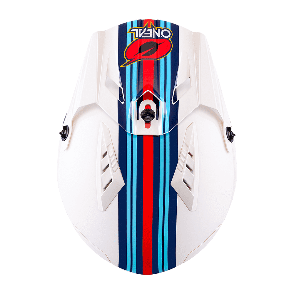 Casco Jet O'Neal VOLT MN1 bianco rosso blu 3