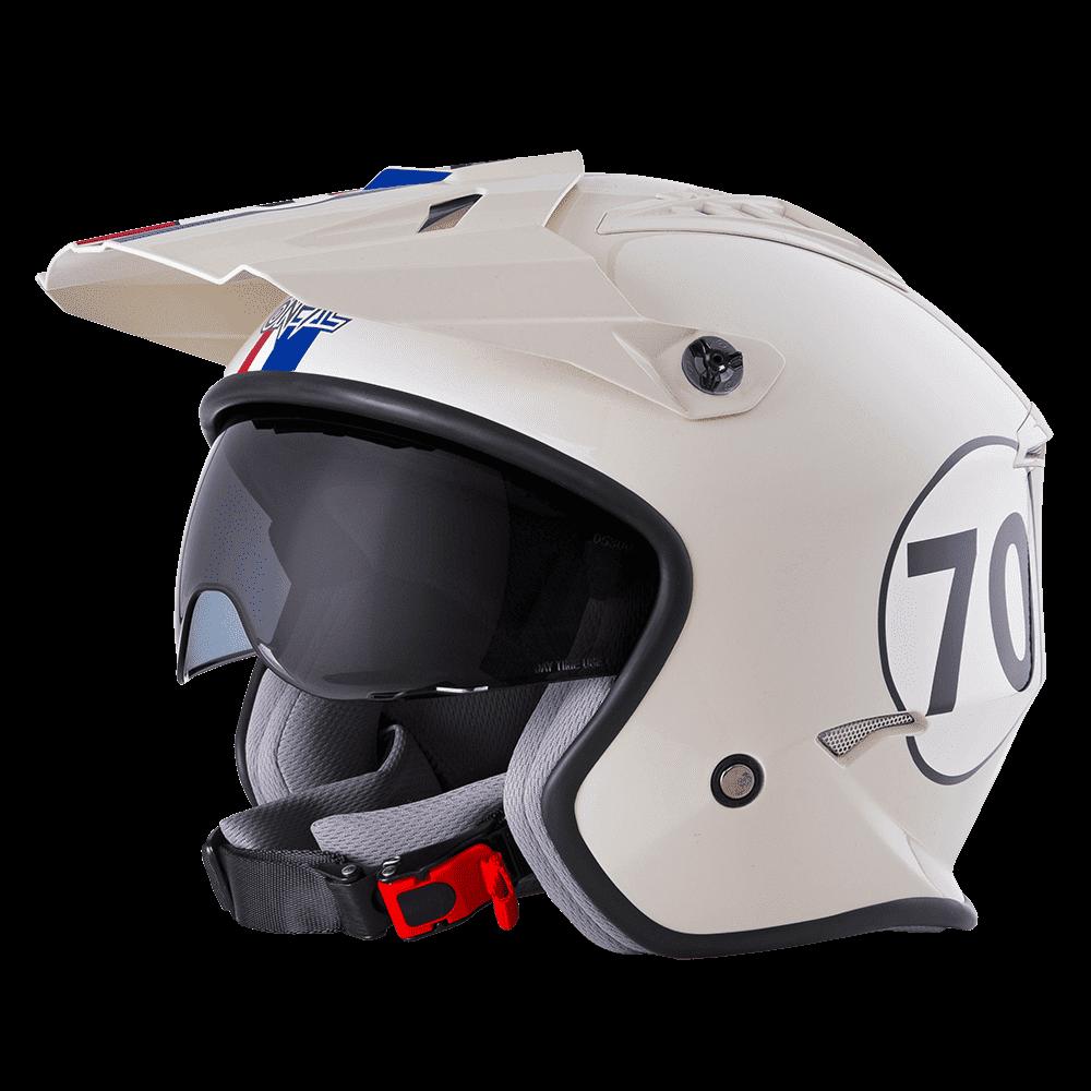 Casco Jet O'Neal VOLT HERBIE bianco rosso blu 1