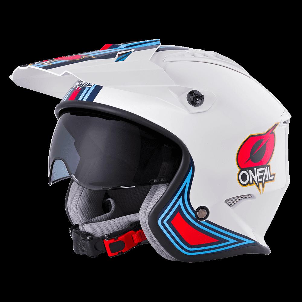 Casco Jet O'Neal VOLT MN1 bianco rosso blu 1