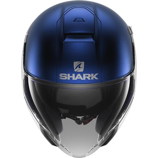 Casco jet Shark CITYCRUISER Dual Blank Mat Argento Blu 2