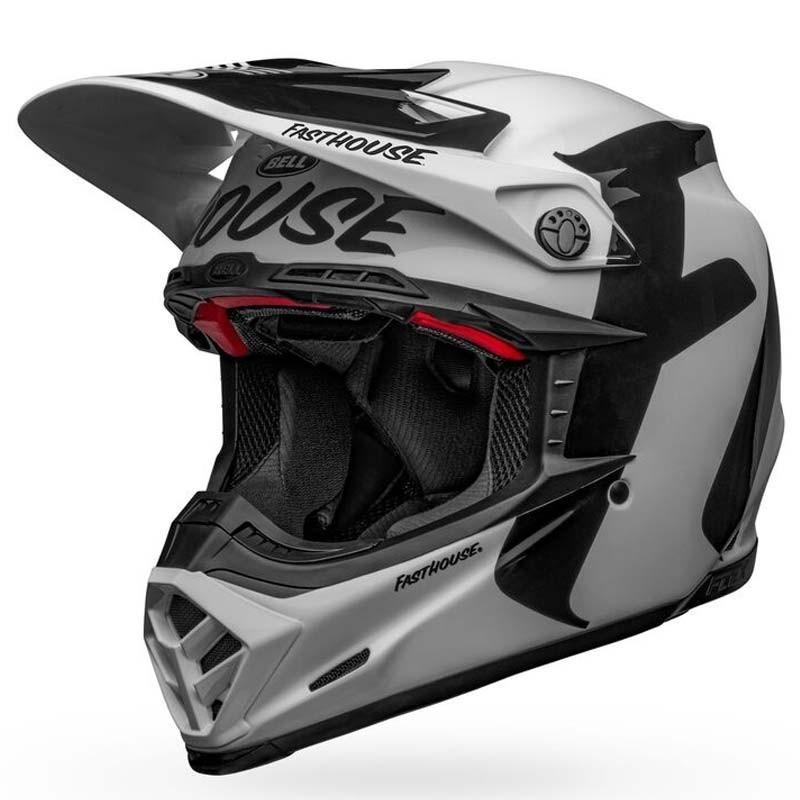 Casco cross Bell Moto 9 Flex Fasthouse Newhall White Black 3