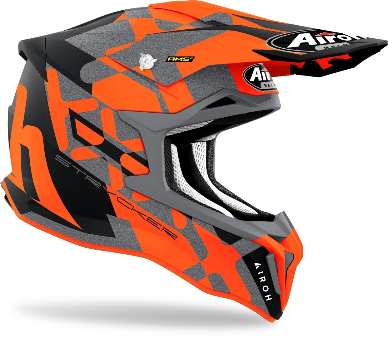 Casco Airoh cross enduro STRYCKER XXX Orange Matt 2