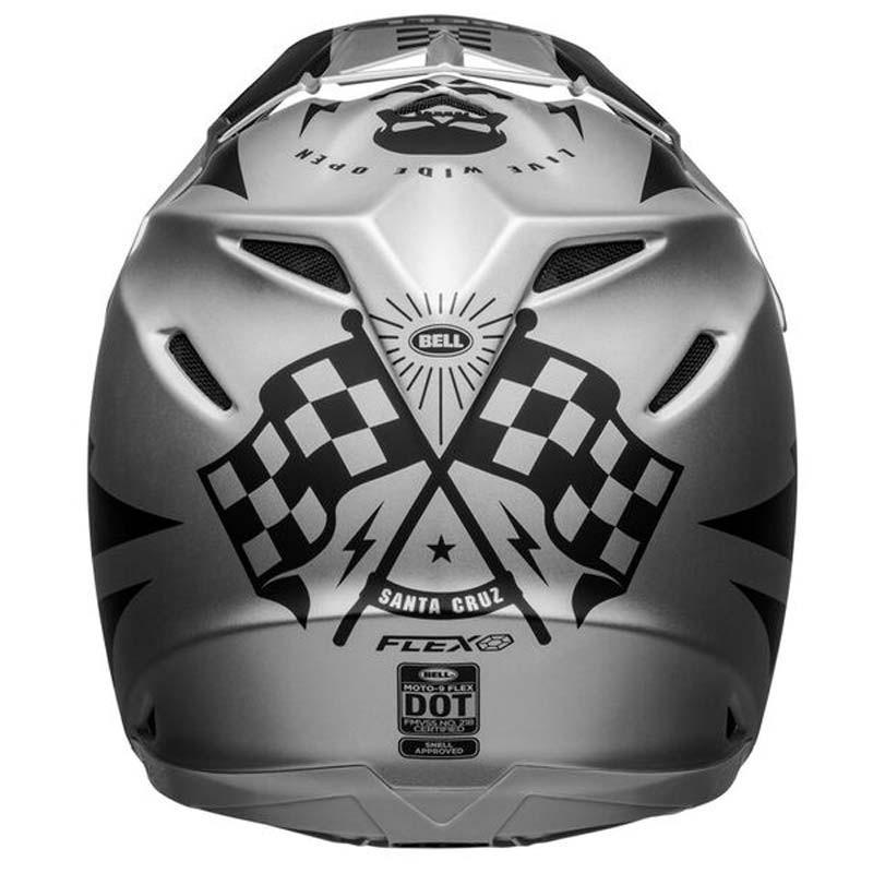 Casco cross Bell Moto 9 Flex Breakaway Matte Silver Black 4