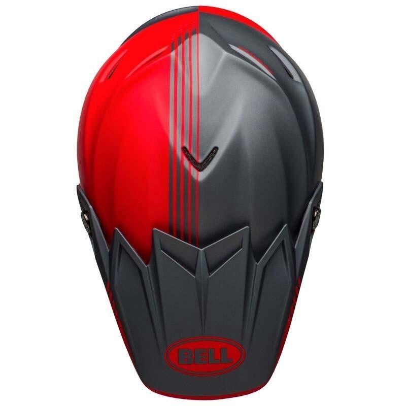 Casco cross Bell Moto 9 Flex Louver Matte Gray Red 2