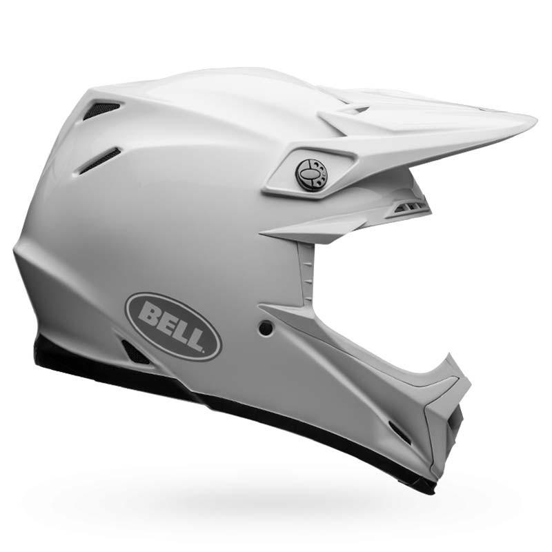 Casco cross Bell Moto 9 Flex Solid White 1