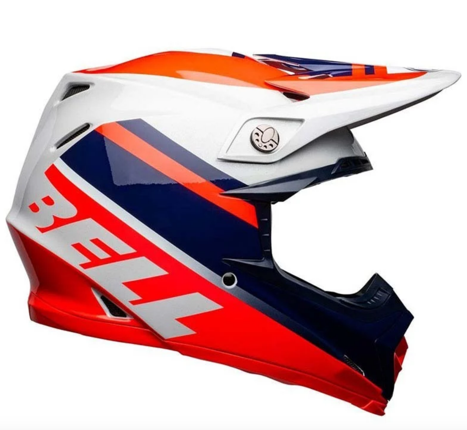 Casco Cross Bell Moto 9 Mips Prophecy Gloss Infrared Navy Gray 1