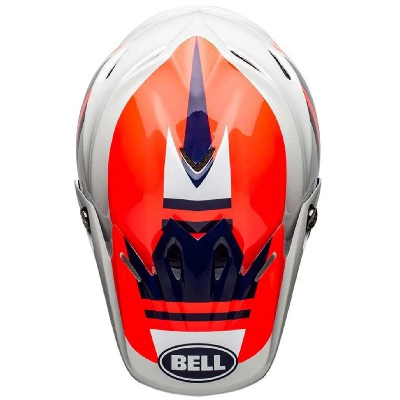 Casco Cross Bell Moto 9 Mips Prophecy Gloss Infrared Navy Gray 2
