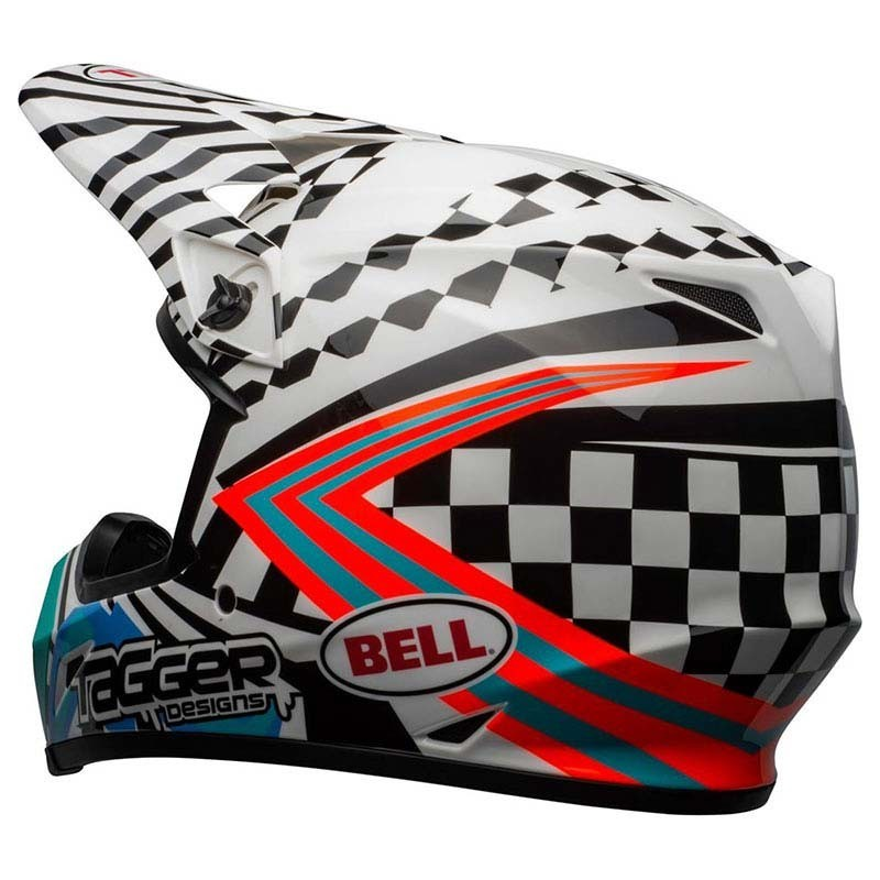 Casco Cross Bell Mx 9 mips Tagger Check me out Gloss White Black 2