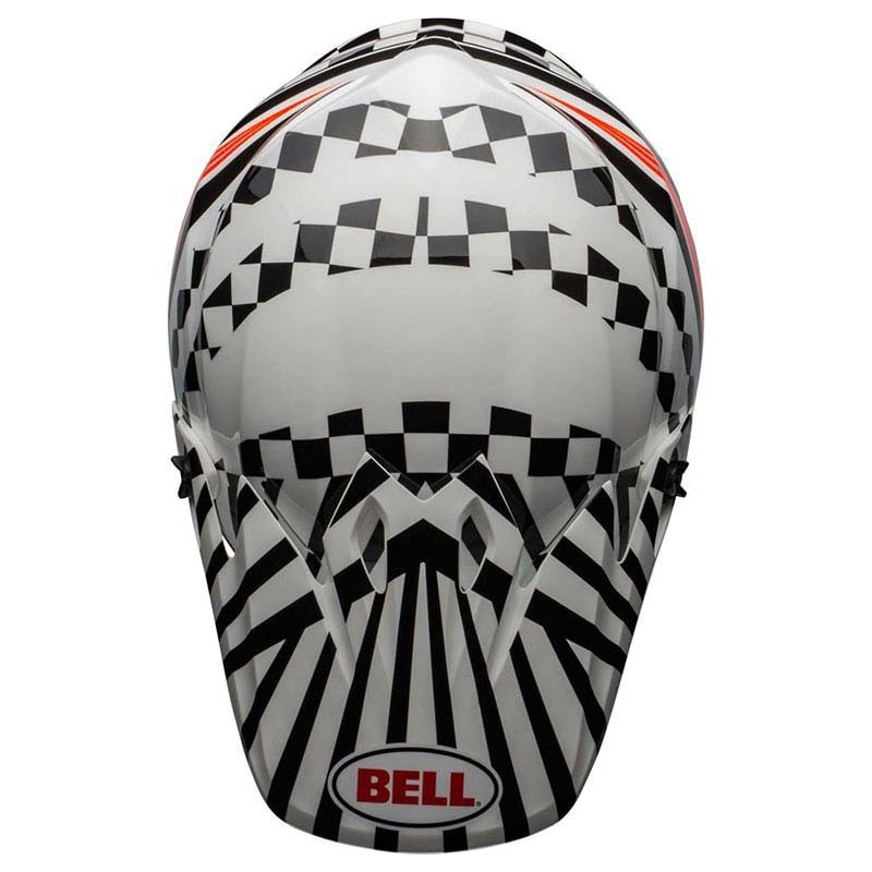 Casco Cross Bell Mx 9 mips Tagger Check me out Gloss White Black 3