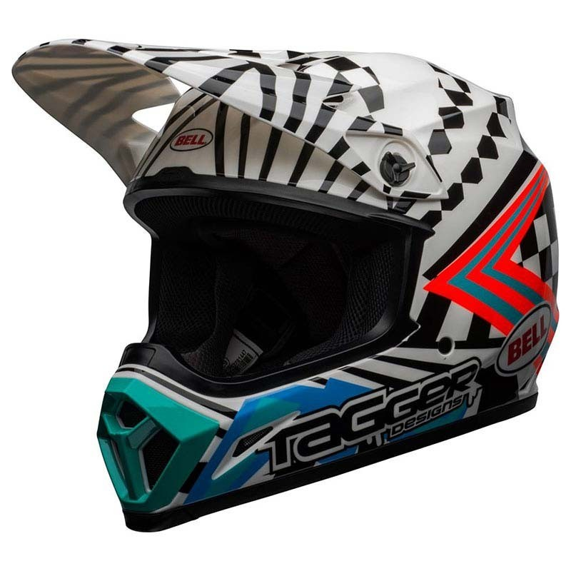 Casco Cross bimbo Bell Moto 9 Mips Check me out White Black 4