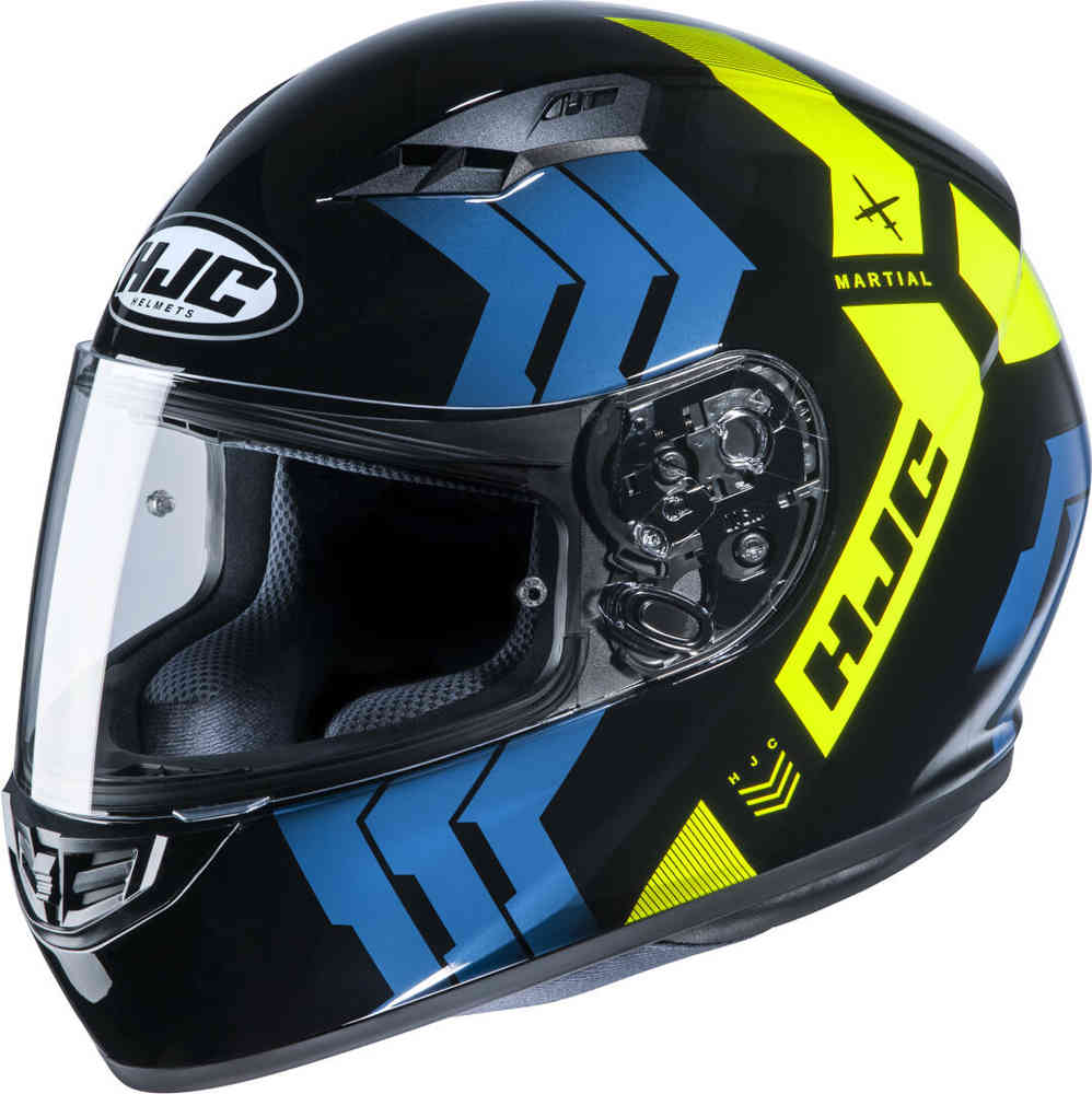 Casco integrale HJC CS-15 MARTIAL MC4H blu giallo 1