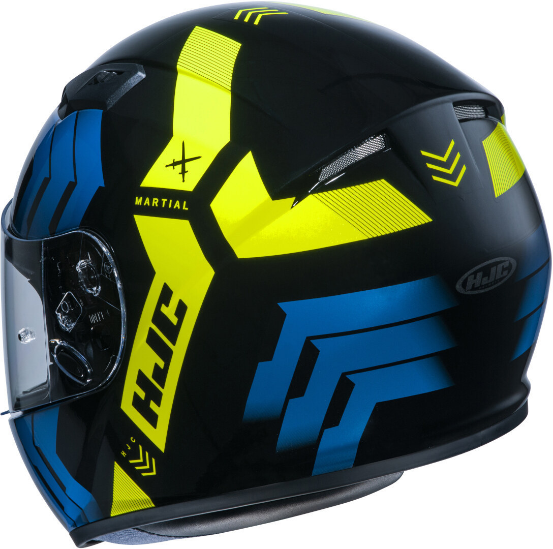 Casco integrale HJC CS-15 MARTIAL MC4H blu giallo 2