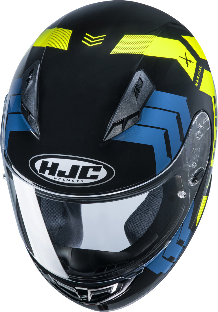 Casco integrale HJC CS-15 MARTIAL MC4H blu giallo 3