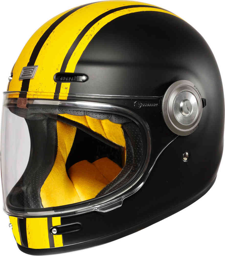 Casco VINTAGE integrale ORIGINE Vega Custom yellow black Matt 1