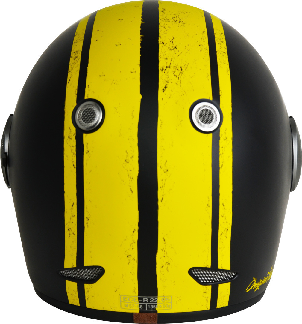 Casco VINTAGE integrale ORIGINE Vega Custom yellow black Matt 2