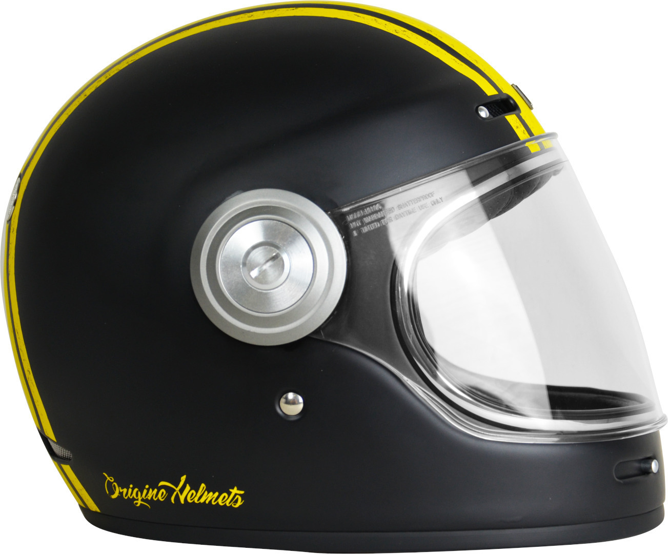 Casco VINTAGE integrale ORIGINE Vega Custom yellow black Matt 3