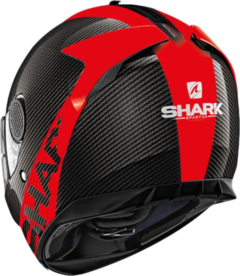 Casco integrale Shark SPARTAN CARBON SKIN 1.2 Nero Rosso 2