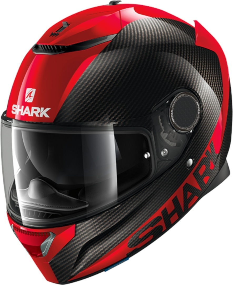 Casco integrale Shark SPARTAN CARBON SKIN 1.2 Nero Rosso 1