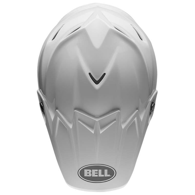 Casco cross Bell Moto 9 Flex Solid White 2