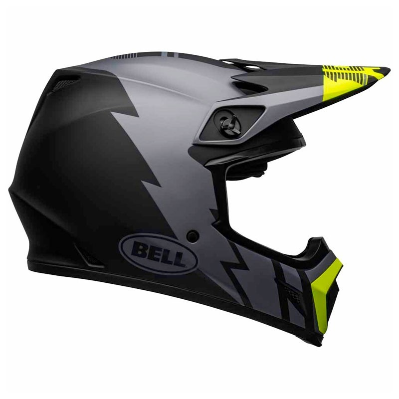 Casco Cross Bell Mx 9 mips Strike Matte Gray Black Hi-Viz 1