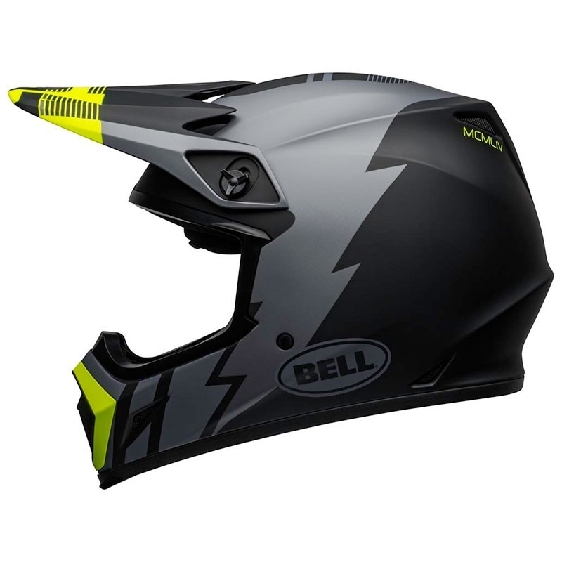 Casco Cross Bell Mx 9 mips Strike Matte Gray Black Hi-Viz 2