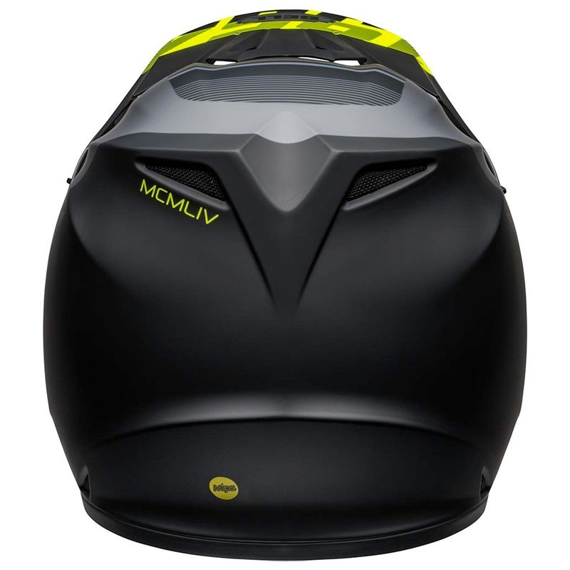 Casco Cross Bell Mx 9 mips Strike Matte Gray Black Hi-Viz 3