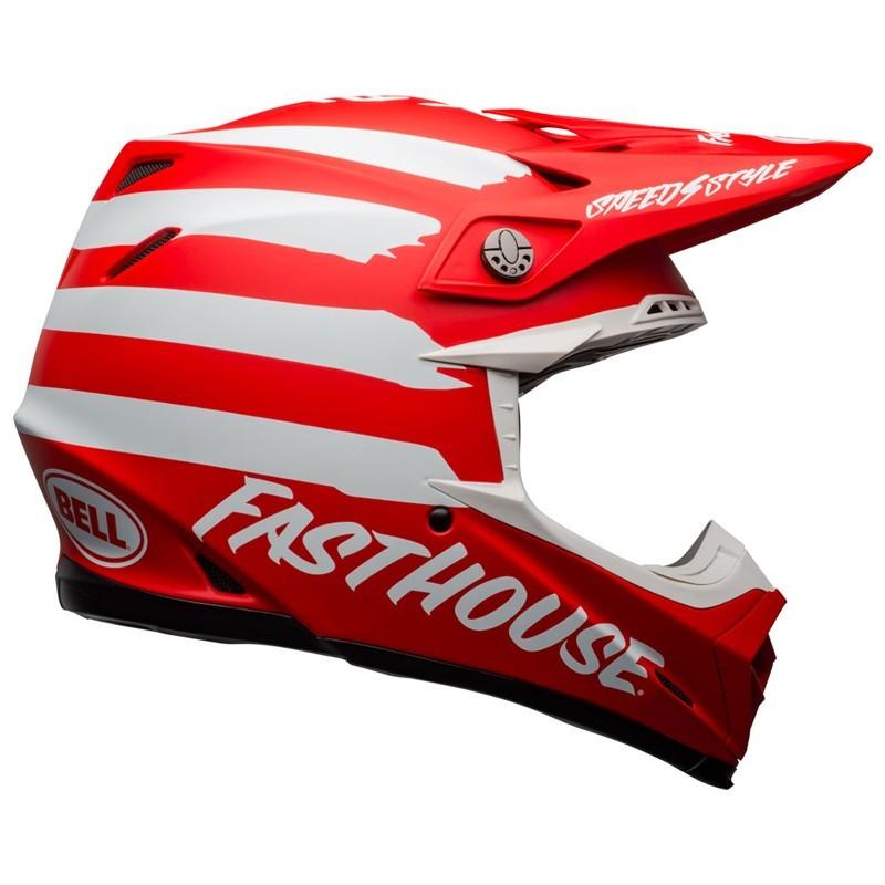 Casco Cross Bell Moto 9 Mips Fasthouse Signia Matt Red White 1
