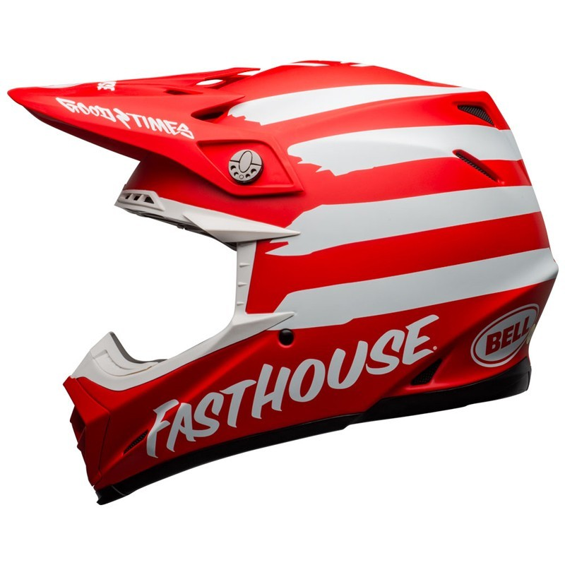 Casco Cross Bell Moto 9 Mips Fasthouse Signia Matt Red White 2