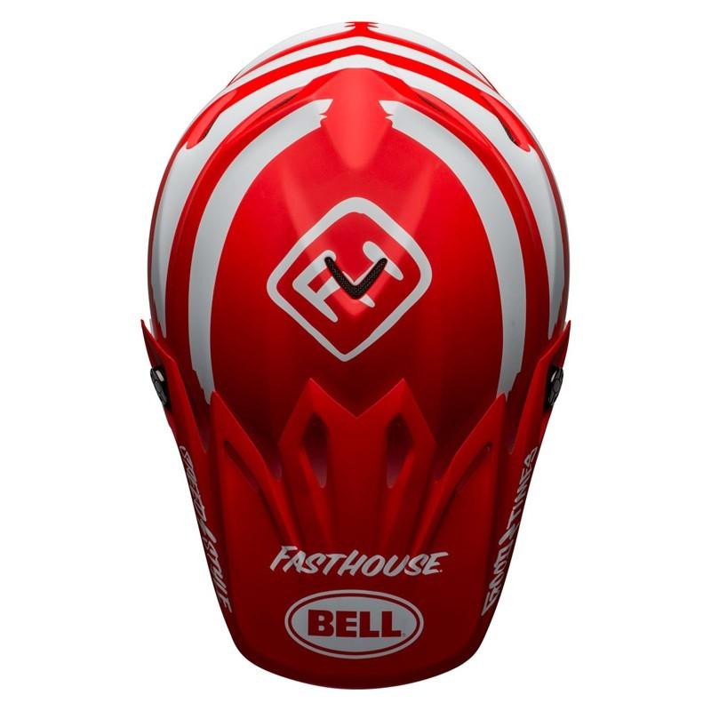 Casco Cross Bell Moto 9 Mips Fasthouse Signia Matt Red White 3