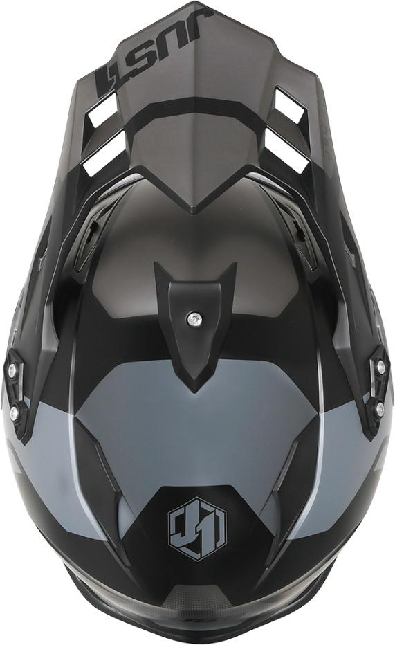 Casco dual road JUST1 J34 Pro Tour Titanium Black Matt 3