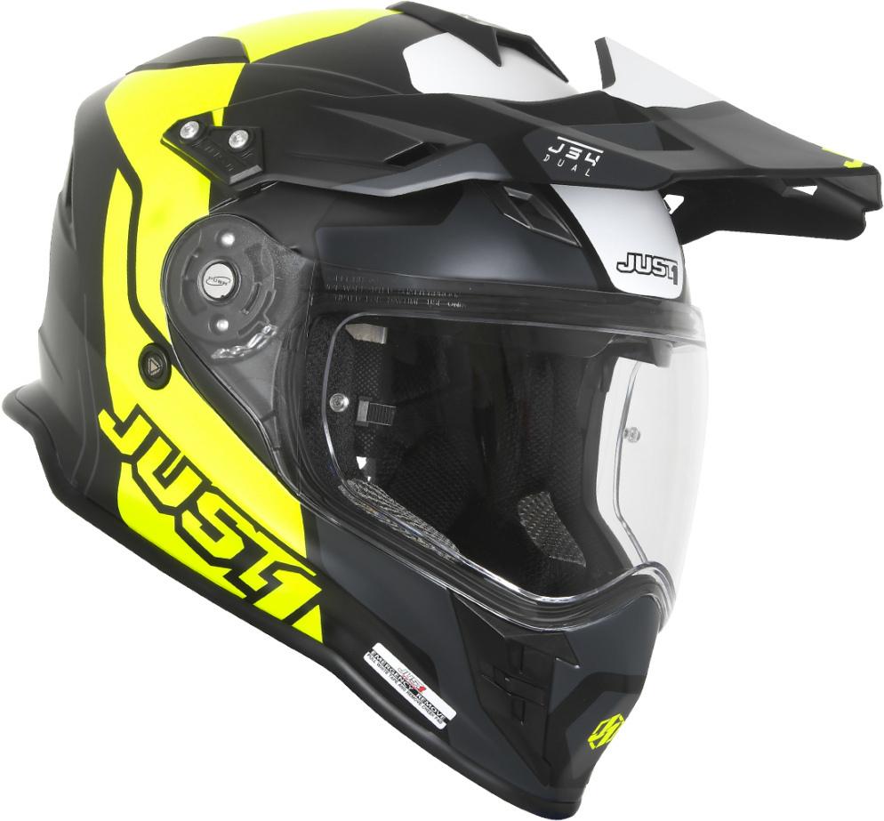 Casco dual road JUST1 J34 Pro Tour Fluo Yellow Black 1