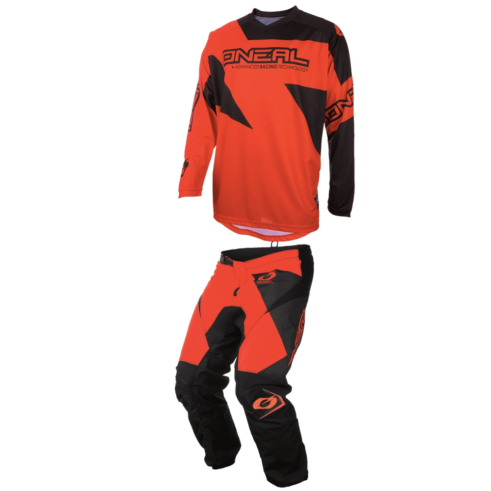 Completo cross O'Neal MATRIX RIDEWEAR 2020 Rosso maglia+pantaloni 1