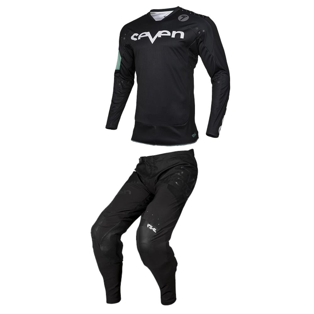 Completo cross Seven Rival Trooper 2 Nero 2020 pantaloni+maglia 3