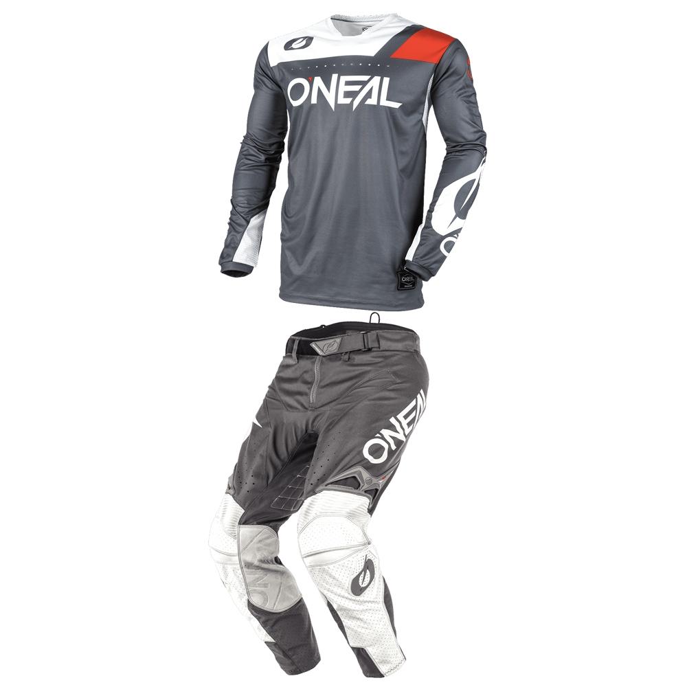 Completo cross O'Neal HARDWEAR REFLEXX 2020 Grigio maglia+pantaloni 1