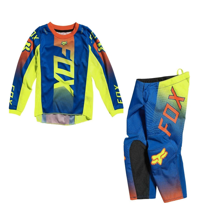 Completo cross bambino 4-5 anni Fox KIDS 180 OKTIV Blue 2021 pantaloni+maglia 1