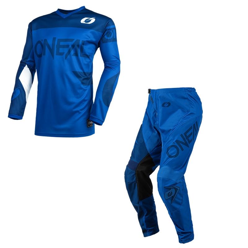 Completo cross O'Neal ELEMENT RACEWEAR 2021 blue maglia+pantaloni 1
