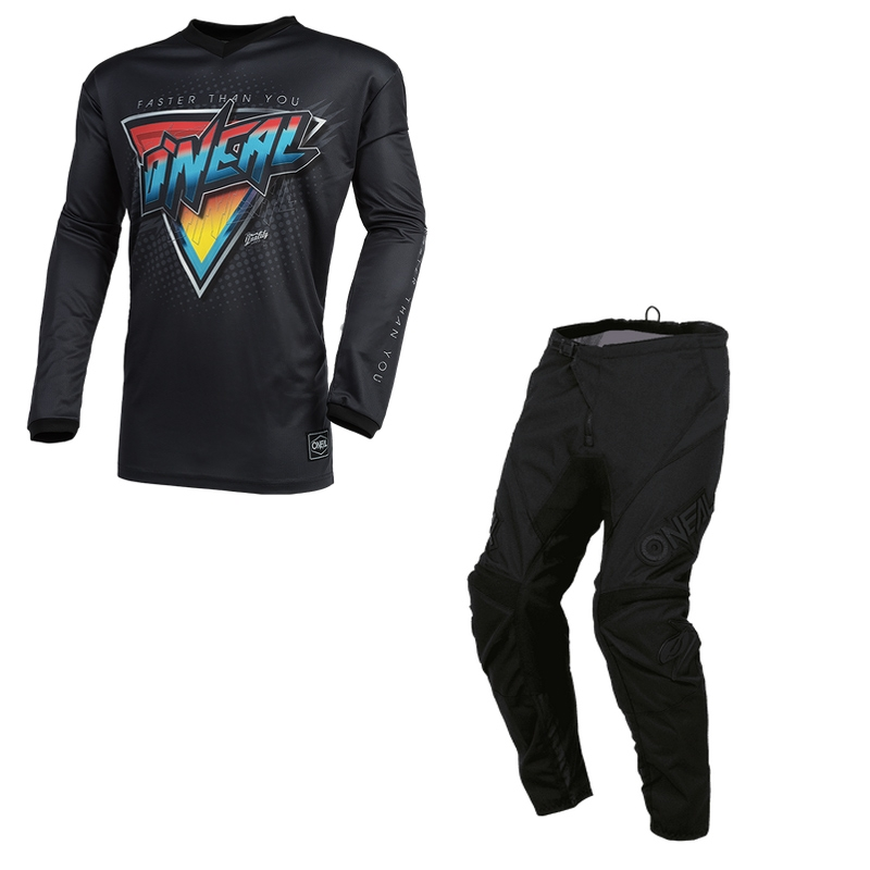 Completo cross O'Neal ELEMENT SPEEDMETAL 2021 black multi maglia+pantaloni 1