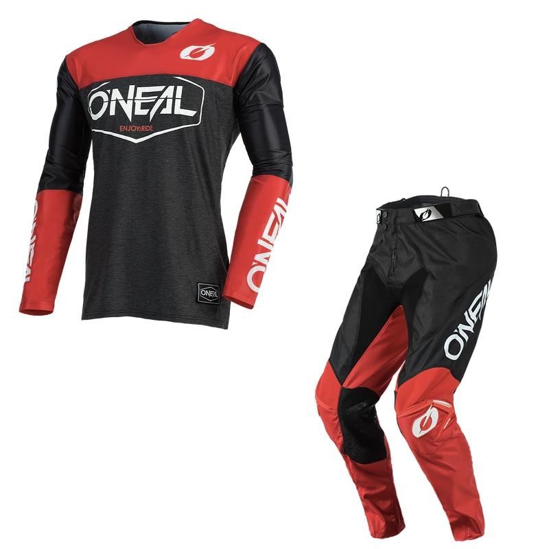 Completo cross O'Neal MAYHEM HEXX 2021 black red maglia+pantaloni 1
