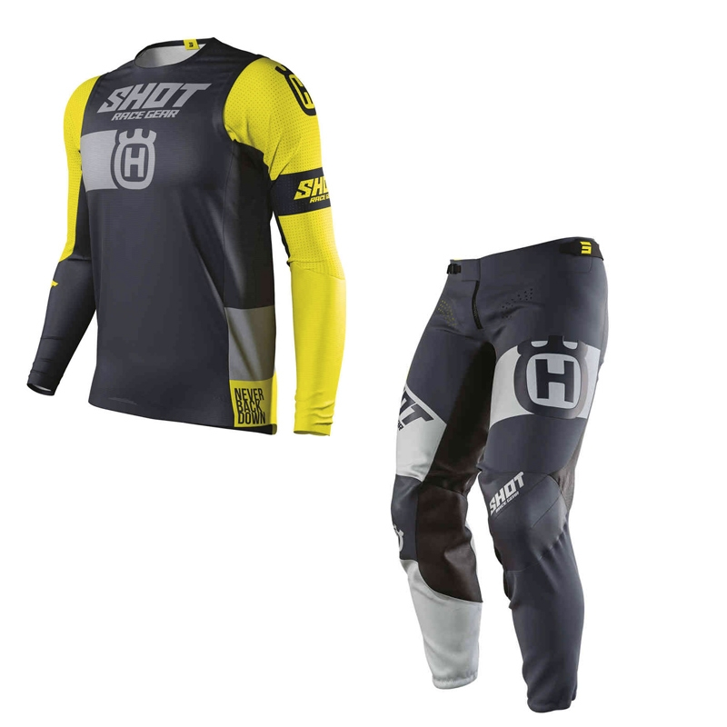 Completo cross enduro Shot Aerolite Husqvarna Limited Edition pantaloni+maglia 1