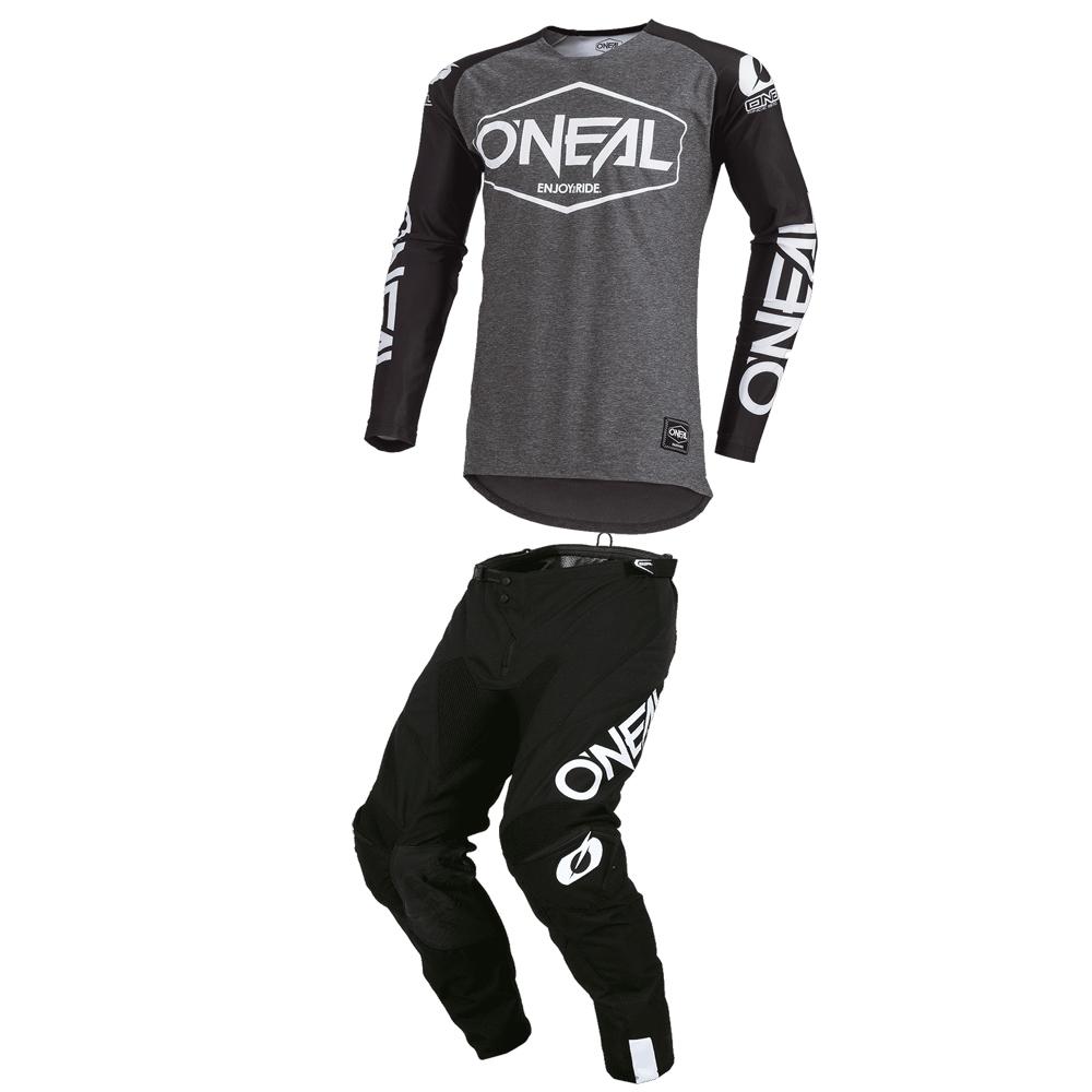 Completo cross O'Neal MAYHEM LITE HEXX 2020 Nero maglia+pantaloni 1